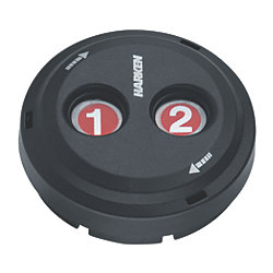 Digital Black Composite Waterproof Switches - Dual-Function with Rotating Guard Top