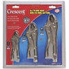 3 Pc. Curved Jaw Locking Pliers Set