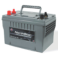 12V Group 34 AGM Start/Deep Cycle Marine Battery - 63 Ah, 880 CCA, 133 Min. Reserve Cap.