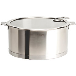 Strate Stew Pan with Glass Lid - 5.5 or 7 Quart