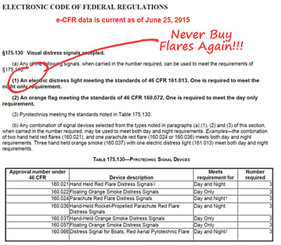 Federal Flare Regulations