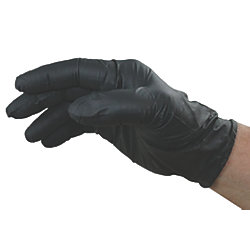 GlovePlus Powder-Free Black Nitrile Gloves - 6 Mil