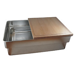 Gastronorm Galley Sink A Kit - Large Sink with Cutting Board & Colander/Drain Pan