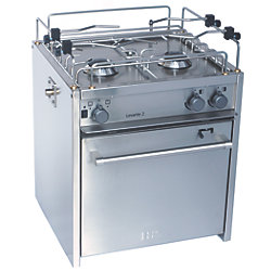 "18"" Levante 2-Burner Compact Marine Gas Stoves"