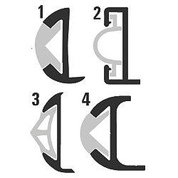 1-1/4IN X 12FT ALUMINUM RUB RAIL