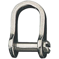 5/32IN D SHACKLE W/SLOTTED PIN