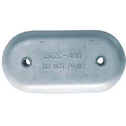 ZINC HULL ANODE 8-5/8X4-1/4X1IN