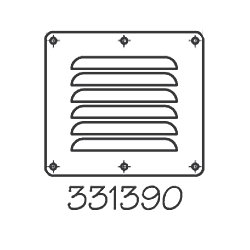 STAINLESS LOUVERED VENT 5INX4-5/8IN