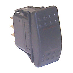 DPDT ROCKER SWITCH (ON)/OFF/(ON) W/LIGHT