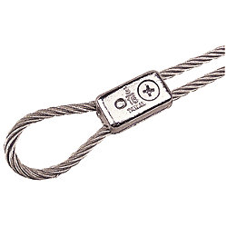 CHR.PLATED ZINC CABLE CLAMP 3/16*PR