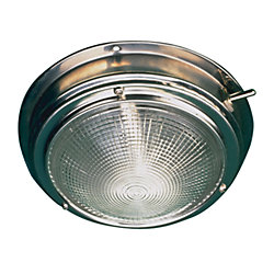 STAINLESS DOME LIGHT-4IN LENS