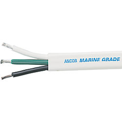 16/3 BLK/GRN/WHT FLAT WIRE (500FT)
