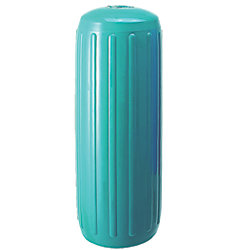 12X34IN TEAL RIBBED FENDER W/HOLE