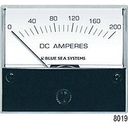 0-200A DC AMMETER ANALOG EXTERNAL SHUNT