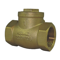 1/2IN NPT BRS SWING CHECK VALVE