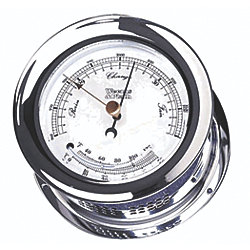 BAROMETER/THERMOMET CHROME ATLANTIS