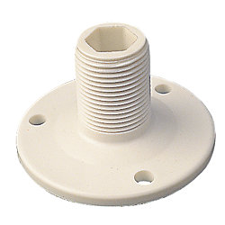 NYLON FIXED ANTENNA BASE   WHITE