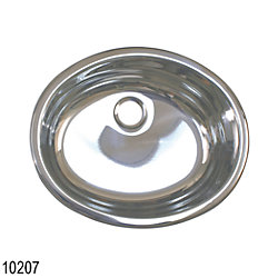 SS OVAL SINK 16-3/4IN X 13-3/4IN