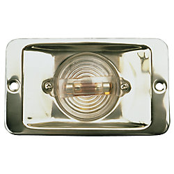 STAINLESS TRANSOM LIGHT  RECTANGLE