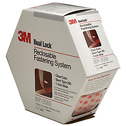 1IN CLR DUAL LOCK FASTENER 2 ROLL (15FT)