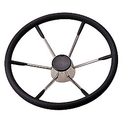 15IN 6 SPOKE SS FOAM STEERING WHEEL