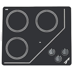 3-B COOKTOP 120V BK GLASS CERAMIC
