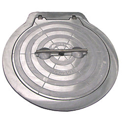 30IN HINGED ROUND HATCH W/ALUM. RING