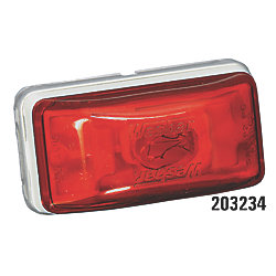 STUD MOUNT RED PC CLEARANCE LIGHT