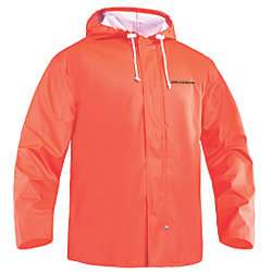HOODED F/W JACKET ORANGE SMALL