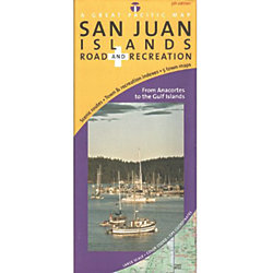 San Juan Islands Road and Recreation Map