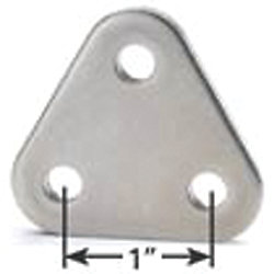 TRIANGLE BACKSTAY PLATE 1/4IN PIN