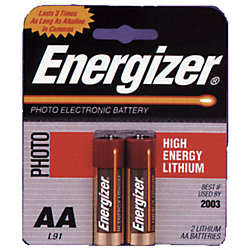 2 PACK AA CELL LITHIUM BATTERY