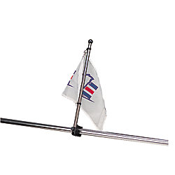 STAINLESS RAIL MOUNT FLAGPOLE 30IN