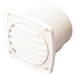ABS HOSE VENT 4IN WHITE 1-3/8INFLANGE
