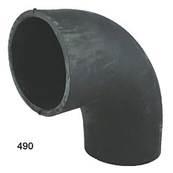 90 Deg Exhaust Elbows - Black Rubber
