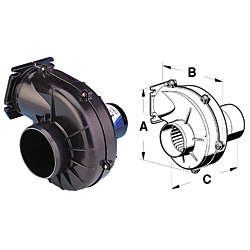 12V 105CFM 3IN FLANGE MOUNT BLOWER