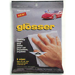 THE GLOSSER 5 WIPES/PKG