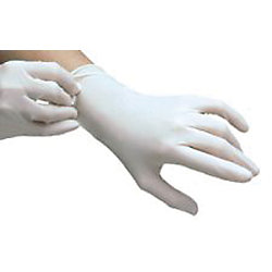 S POWDERED TEXTURED  LATEX GLOVE
