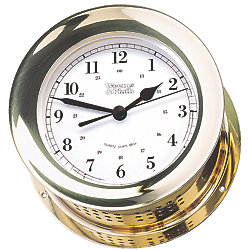 CLOCK  ATLANTIS  BRASS