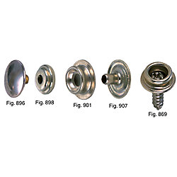 NICKEL BRS DURABLE FASTENER EYELET (100)