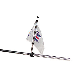 STAINLESS RAIL MOUNT FLAG POLE 17IN