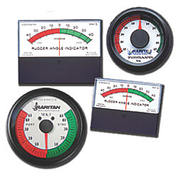 RUDDER INDICATOR ROUND ANALOG CHROM