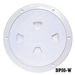 8IN WHT SCREW OUT DECK PLATE