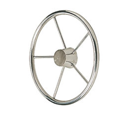 15IN SS STEERING WHEEL 10 DEG.DISH