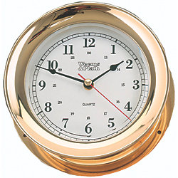 CLOCK QUARTZ ADMIRAL 6IN BRASS