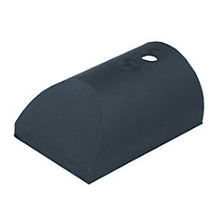 BLACK NYLON RUB RAIL END CAP