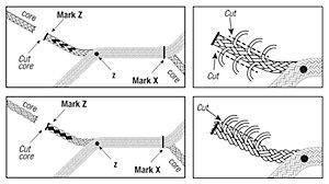 12-Strand or 8-Strand Core Taper for double braid eye splice.